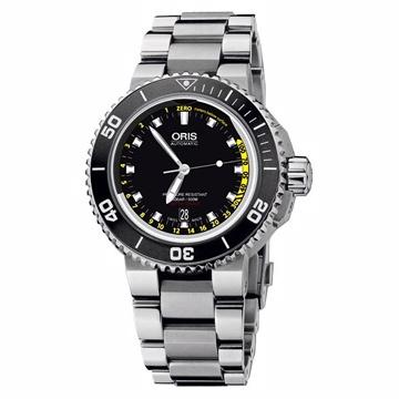Oris Aquis Depth Gauge 深度測量潛水機械腕錶黑733 7675 41