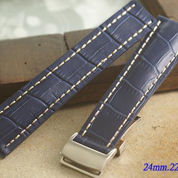 進口 加厚 BREITLING 百年靈代用摺疊扣錶帶 ( 24mm.22mm.)