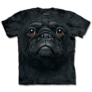 ~摩達客~ 大 3XL 美國 ~The Mountain ~自然純棉系列黑巴哥犬臉T 恤
