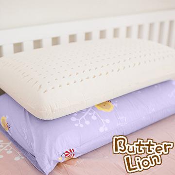 ~奶油獅~ 成人 馬來西亞 100 純天然乳膠麵包枕幻紫二入