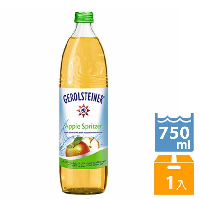 《GEROLSTEINER 迪洛斯汀》迪洛斯汀蘋果氣泡礦泉水750ml