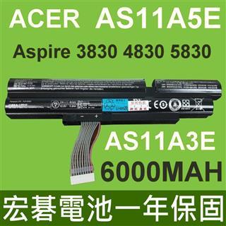 ACER電池 6000MAH AS11A5E AS11A3E ASPIRE 3830TG 4830TG 5830TG ID47H ID57H