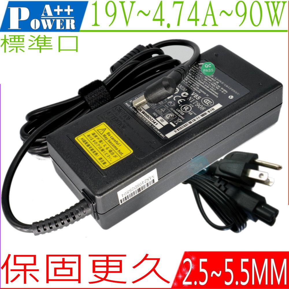 ASUS 19V,4.74A,90W變壓器,K40IN,K41JC,K42JA K43SA,K50IE,K51AC,K52JE,K53SV,K55VM,K60IC,K70,K73