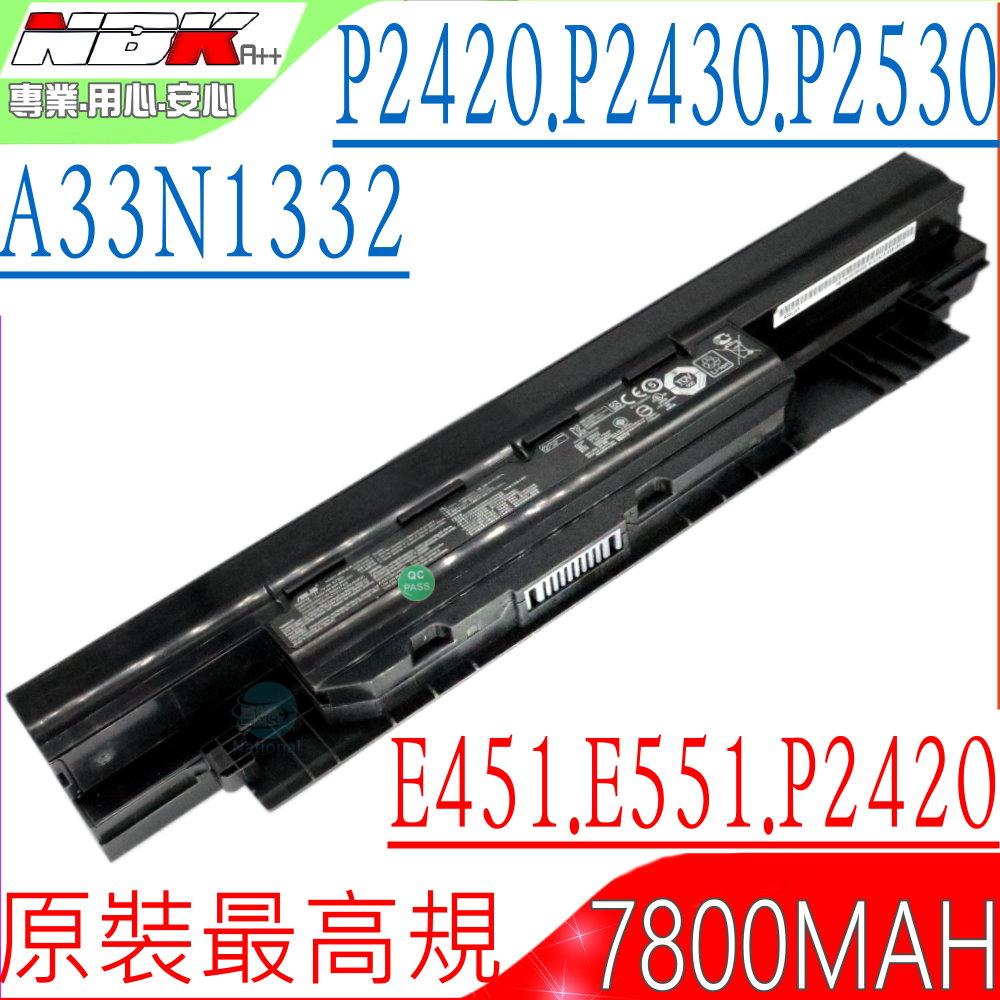 ASUS電池-華碩 A33N1332,PU450,PU451,PU550,PU551,PRO450,P2420L,P2430U,P2530U,E451,E551,A33N1331