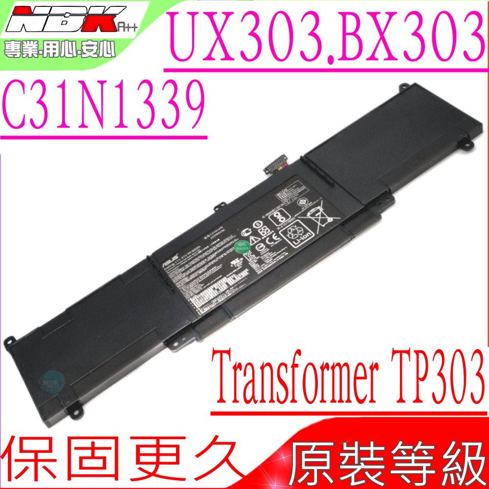 ASUS電池-華碩 C31N1339,UX303,UX303L,UX303U,TransFormer Book TP300L,3ICP6/54/90