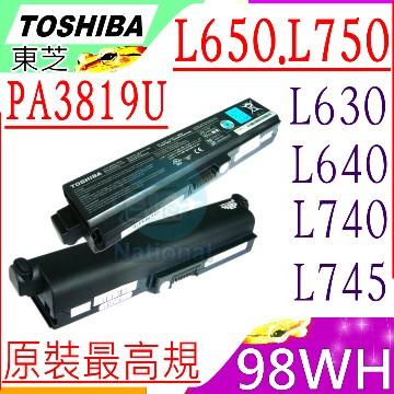 TOSHIBA電池-PA3818U,C650,L600,L640,L650,L700,L730,L740,L750,L755,P750,PA3817U,PA3819U