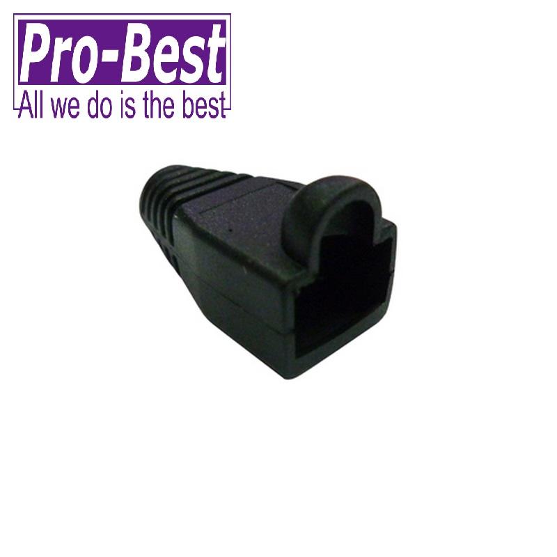 PRO BEST CAT 5e 接頭護套黑色50PCS