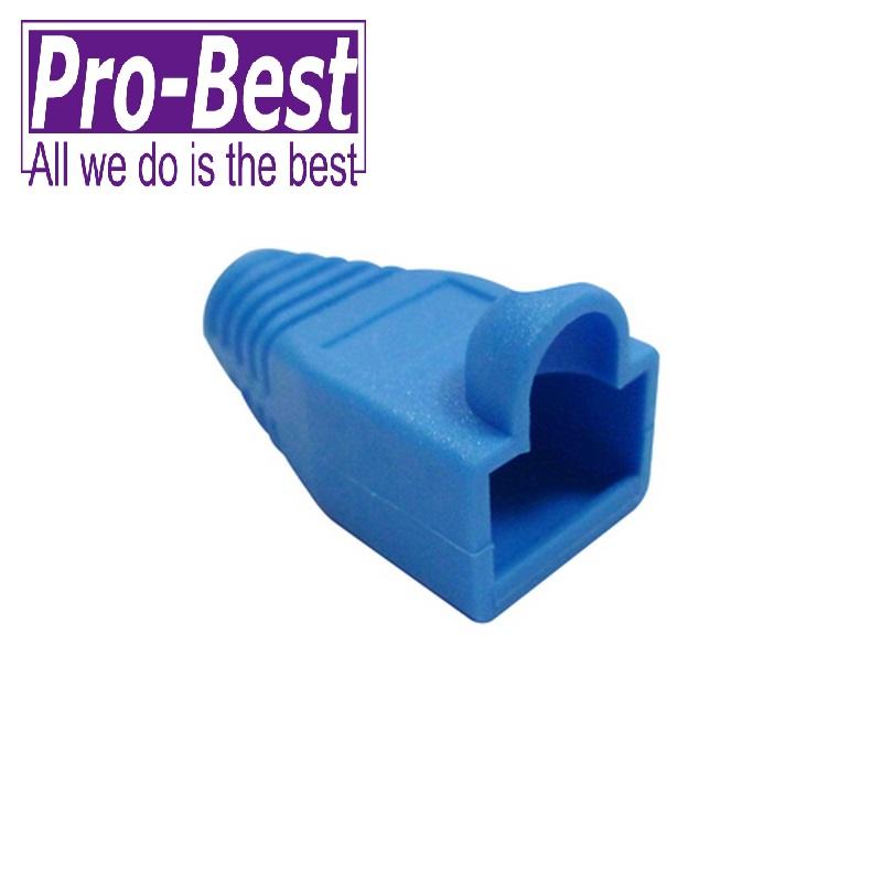 PRO BEST CAT 5e 接頭護套藍色50PCS