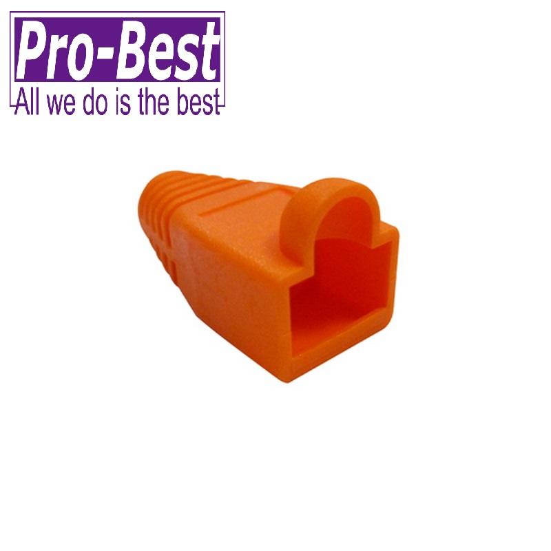 PRO BEST CAT 5e 接頭護套橘色50PCS