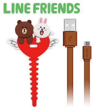 LINE FRIENDS 傳輸充電線USB 2 0 愛心紅LN CB03R
