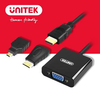 UNITEK 優越者HDMI轉VGA轉換器(Micro / Mini HDMI 轉接頭)