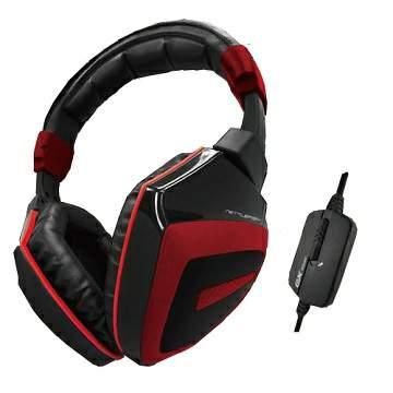 微太克 EXSOUND NettleFish 耳機麥克風 黑紅色