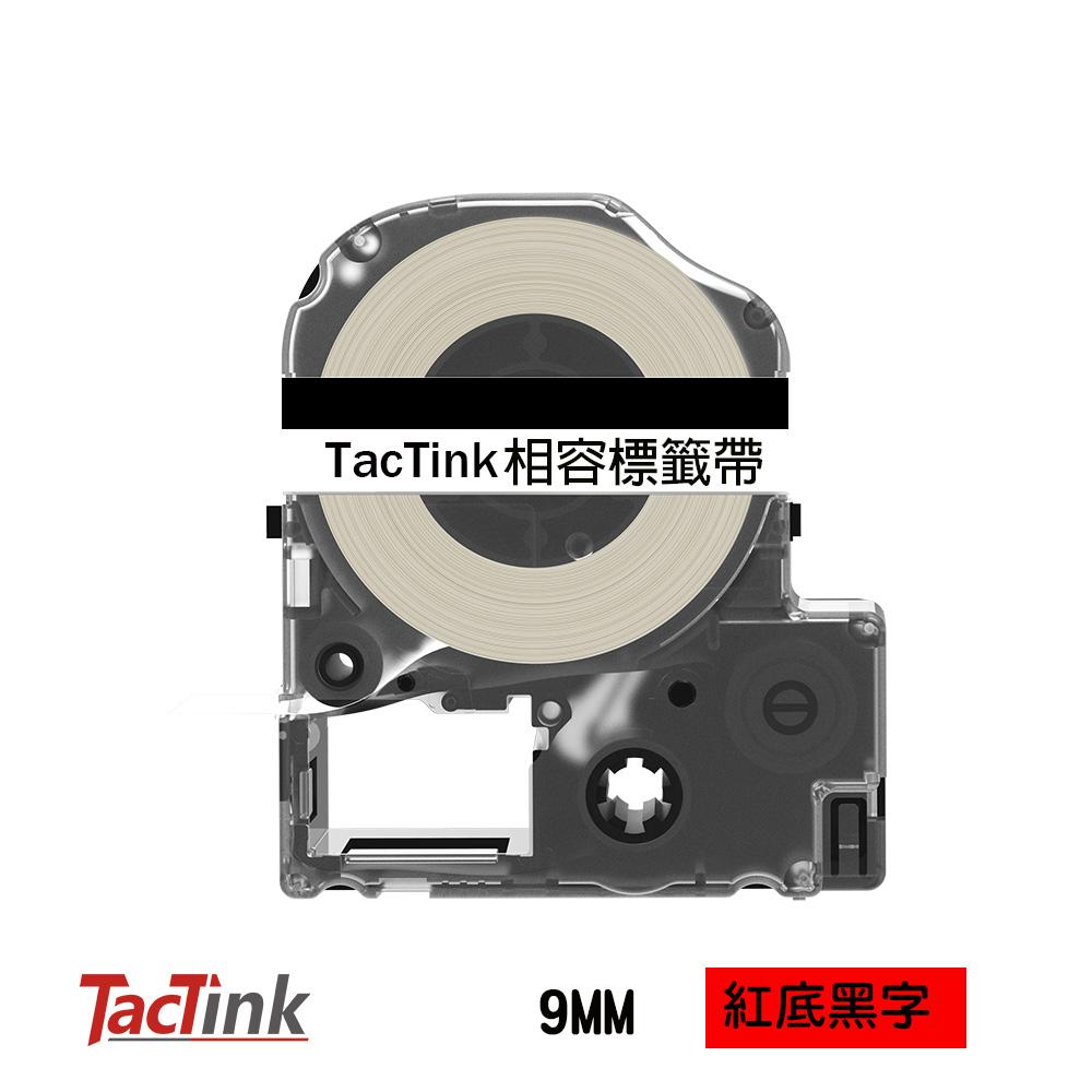 ~TacTink ~EPSON 標籤带色帶LC 3RBP 紅底黑字寬度9mm