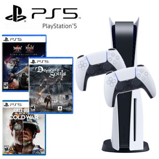【SONY】PS5 遊戲主機 (光碟版) +DualSense 無線控制器+ PS5遊戲同捆組合