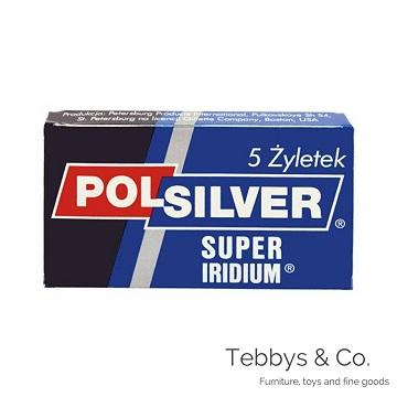 俄羅斯 Polsilver Super Iridium 雙面安全刮鬍刀片(5片裝)