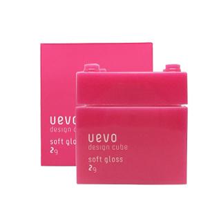 日本 DEMI 提美 UEVO卵殼膜彩色造型積木 粉紅積木髮蠟 80g