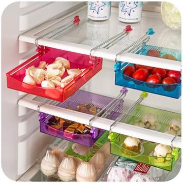 冰箱收納盒冰箱隔層收納架抽動式收納盒多用收納盒