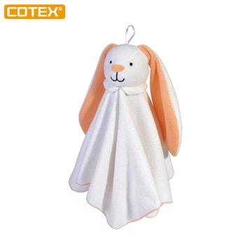 COTEX 長耳兔安撫巾情緒安撫親子互動床邊吊飾擦汗擦口水