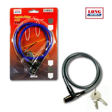 龍陣 簡易型鑰匙鋼絲鎖