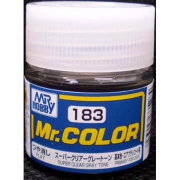 GUNZE 郡是Mr COLOR 消光超級透明灰SUPER CLEAR GRAY 模型 漆NO C 183