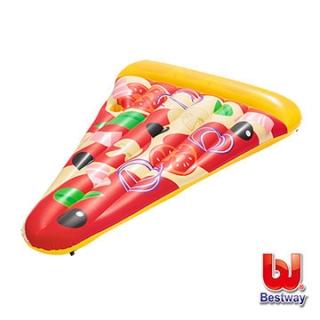 【愛而富L&R】Bestway。美味披薩造型充氣浮排/pizza泳圈/浮板 44038