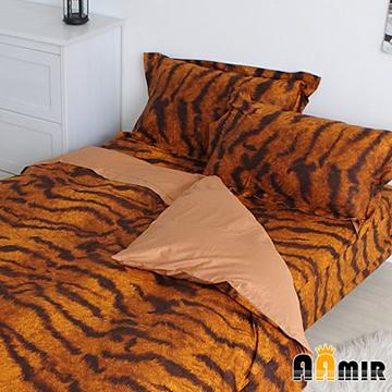 AAMIR 斑紋旭旭黃雙人三件式純棉床包組