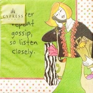 Cypress 餐巾紙M Holiday Girlfriend Been good all year 假日女孩之過美好的一年
