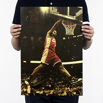 2 件9 折↘懷舊復古 牛皮紙海報壁貼咖啡館裝飾畫仿舊掛畫~籃球NBA 美國職籃系列James Harden 詹姆士·哈登