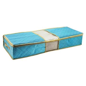月陽80X40 竹炭彩色透明視窗床下棉被衣物收納袋整理箱C70L