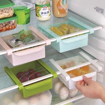 衛浴廚房餐廚 小幫手▲ 多 冰箱保鮮隔板多用整理收納架抽動式分類收納置物架食物存放抽屜盒白