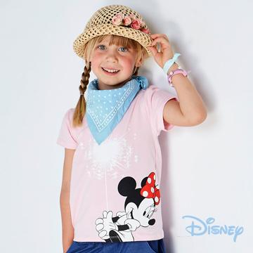 Disney 歡樂煙火米妮短袖上衣粉紅