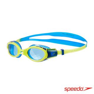 SPEEDO 兒童運動泳鏡 Futura Biofuse Flexiseal 萊姆綠/藍