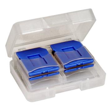 DigiStone SD SDHC MircoSD 炫彩記憶卡收納盒8 片裝藍色