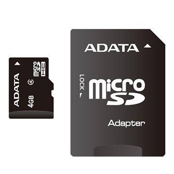 ADATA 威剛microSDHC Class4 4G 記憶卡附轉卡