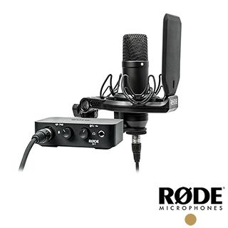 RODE 麥克風套組 NT1 + 錄音介面 (含麥克風線) AI1