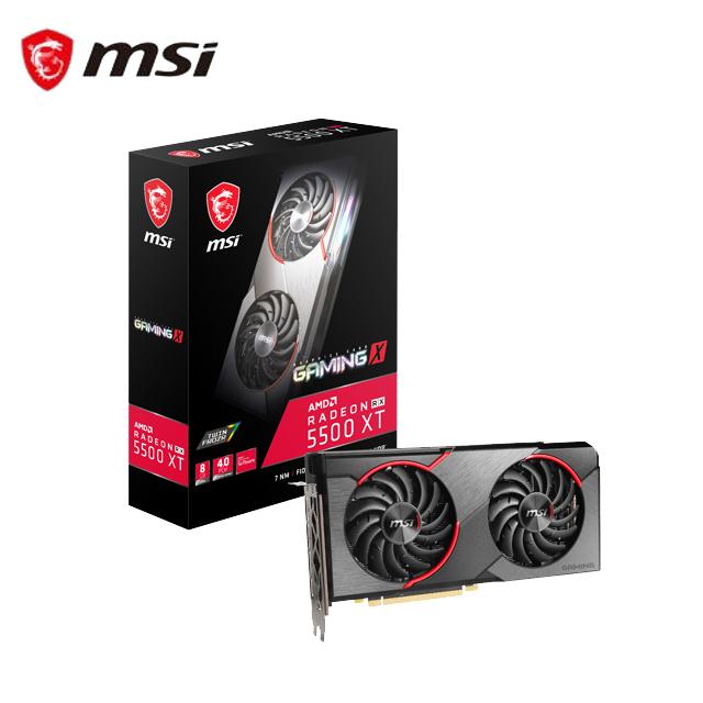 微星 Radeon RX 5500 XT GAMING X 8G 顯示卡