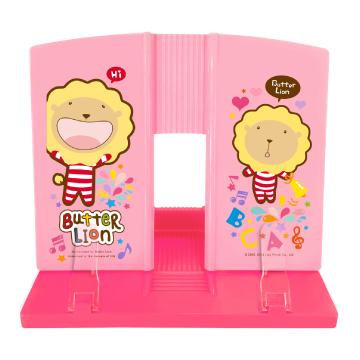 奶油獅看書架粉紅色