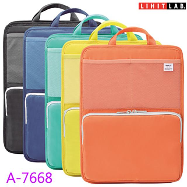 日本 LIHIT A4 直式多功能袋中袋- Bright Label ( A-7668 )