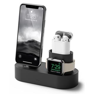 elago Apple 3合1充電座 - 整合iPhone / AirPods / Apple Watch - 黑色
