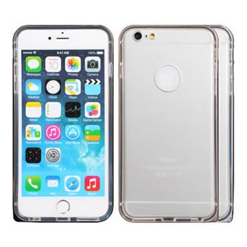 for iPhone 6 PlusPIE 簡約圓弧海馬扣雙料保護邊框