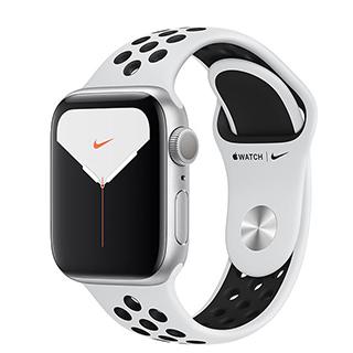 Apple Watch S5 GPS ,44mm 銀色鋁金屬錶殼搭 Nike 白色運動型錶帶