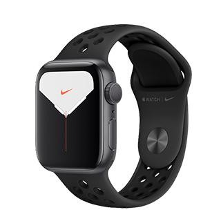 Apple Watch Nike+ Series 5 40公釐太空灰色鋁金屬錶殼搭Anthracite配黑色Nike運動型錶帶(GPS版)